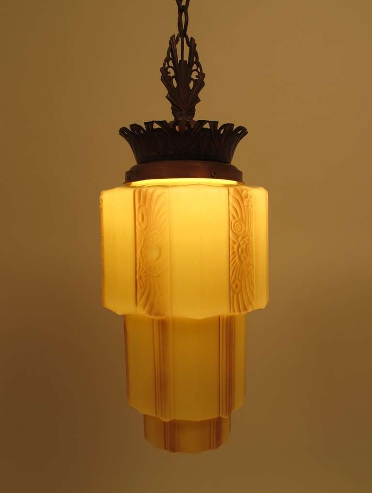 art deco light fixture at 1stdibs. Black Bedroom Furniture Sets. Home Design Ideas