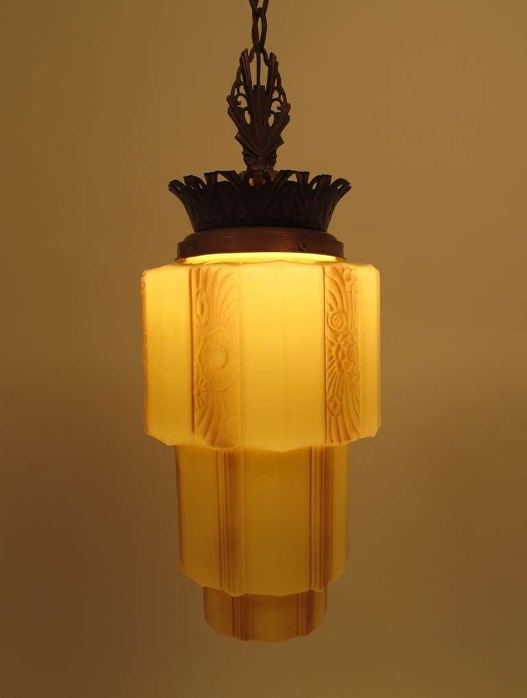 art deco light fixture at 1stdibs. Black Bedroom Furniture Sets. Home Design Ideas