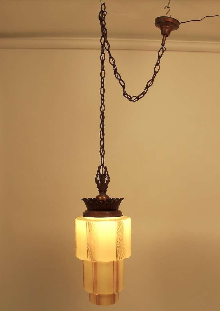 Art deco light fixture at 1stdibs for Artistic pendant lights