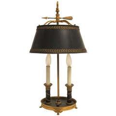 19th Century Bronze Bouillotte Lamp