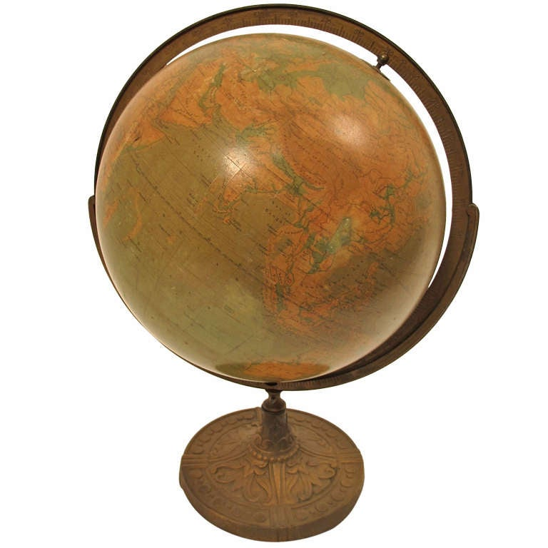 art deco globe for sale at 1stdibs. Black Bedroom Furniture Sets. Home Design Ideas