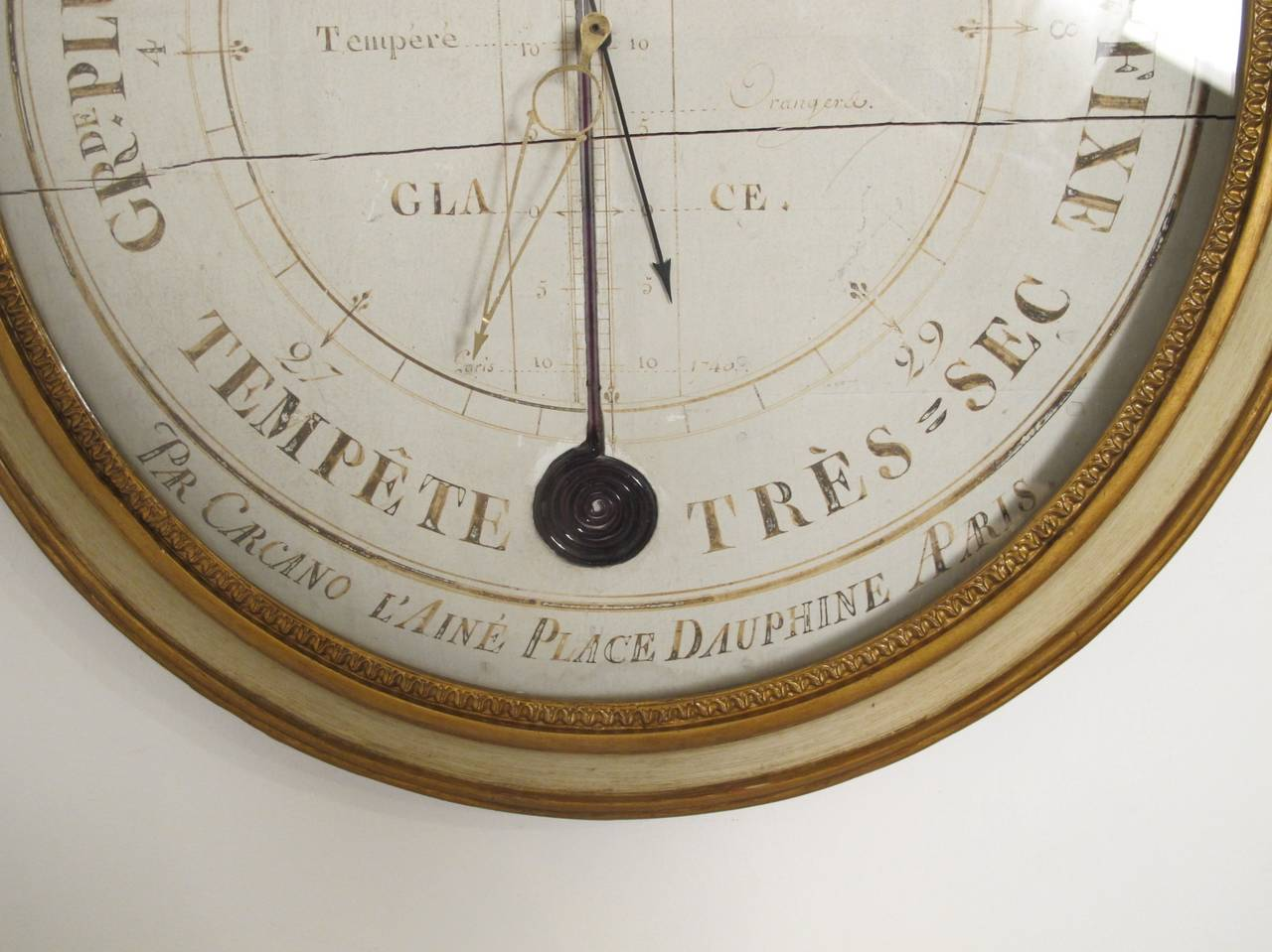 19th Century French Barometer In Good Condition For Sale In San Francisco, CA