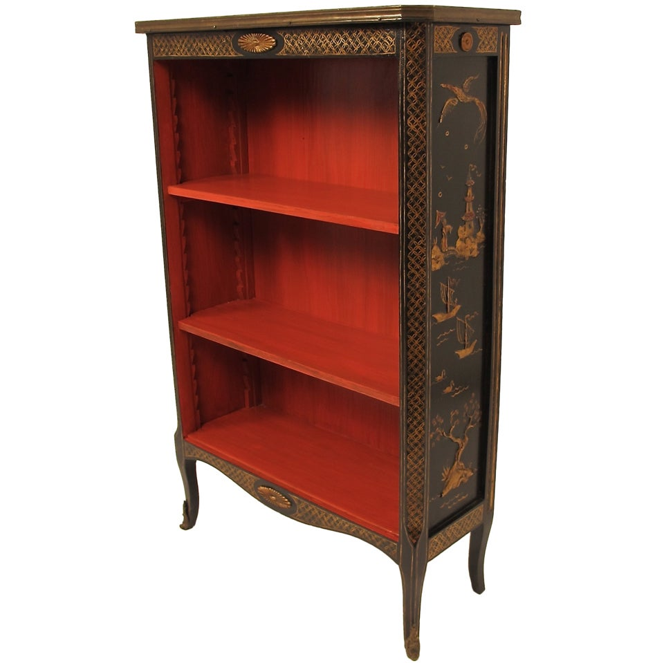 Pair Of French Chinoiserie Bookcases At 1stdibs