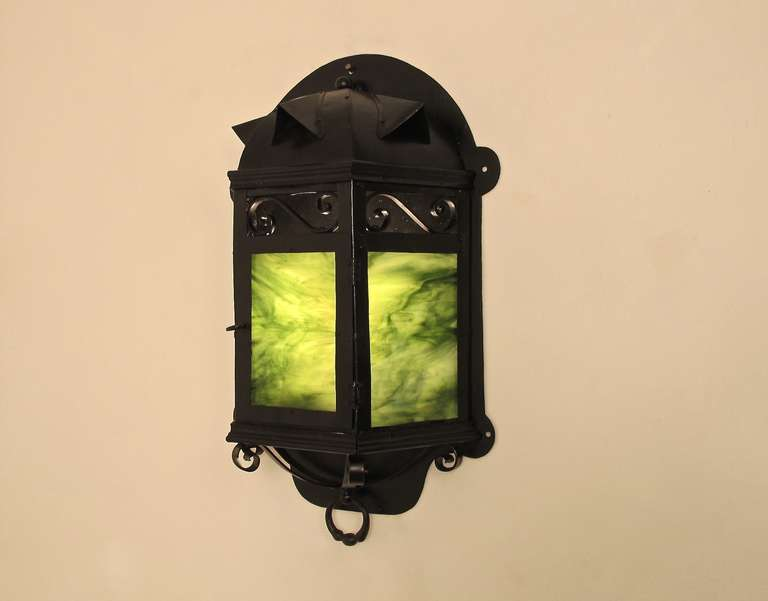 Arts and Crafts Arts & Crafts Lantern Wall Sconce For Sale