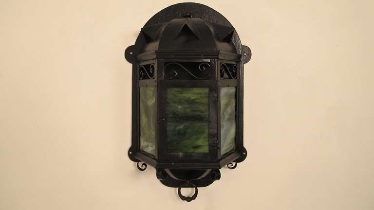 American Arts & Crafts Lantern Wall Sconce For Sale