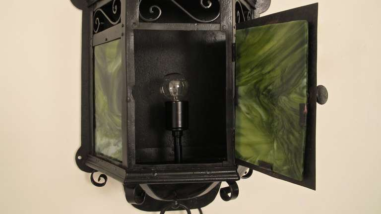 20th Century Arts & Crafts Lantern Wall Sconce For Sale