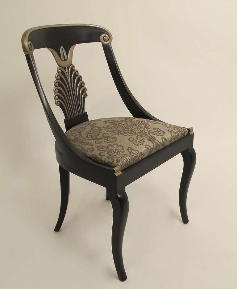 Set Of 4 Hollywood Regency Style Side Chairs At 1stdibs