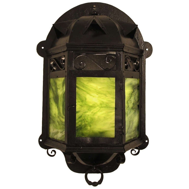 Arts & Crafts Lantern Wall Sconce For Sale