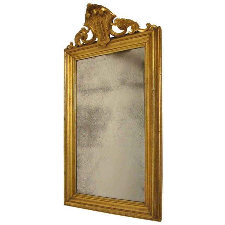 19th Century French Louis Philippe Gilt Mirror