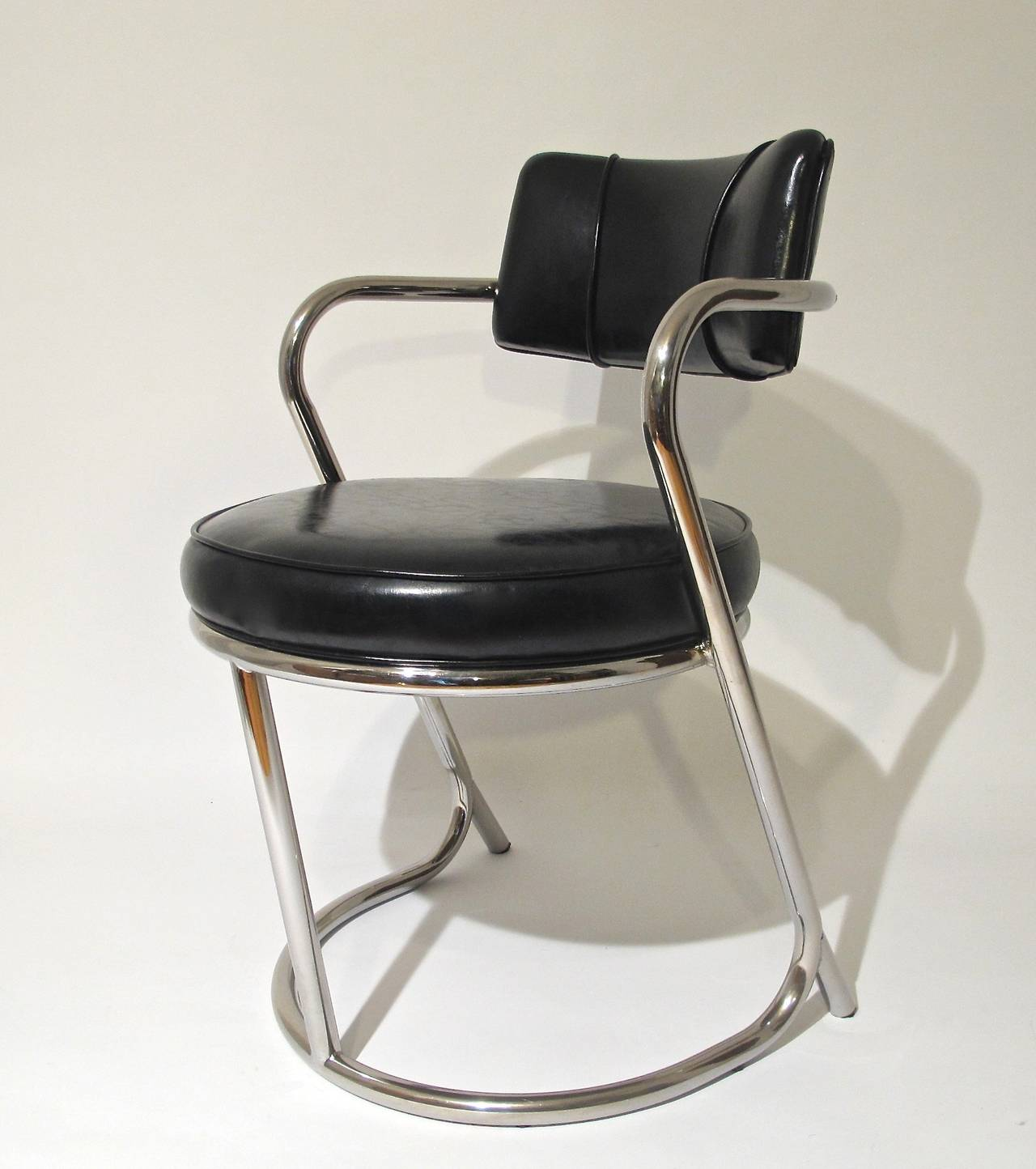 Art Deco Chrome Desk Or Arm Chair Circa 1935 At 1stdibs