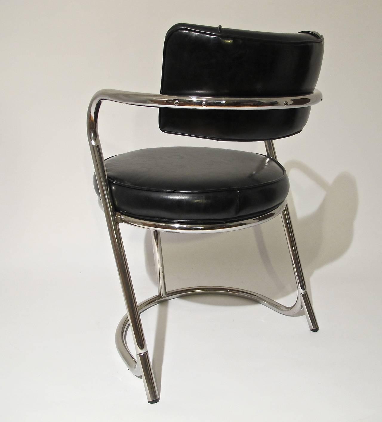 Art Deco Chrome Desk Or Arm Chair Circa 1935 At 1stdibs