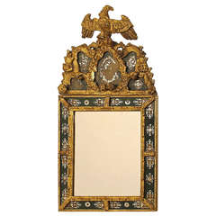 18th Century Eglomise and Giltwood Mirror