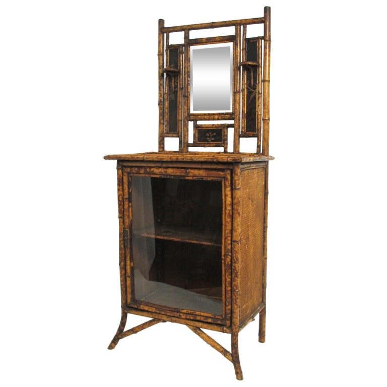 Bamboo cabinet dressing table at 1stdibs