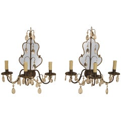 Mirrored Sconces