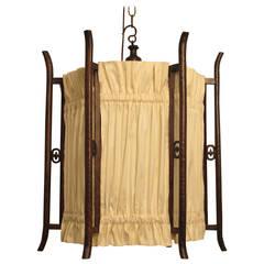 Chinese Wooden Lantern, Electirfied