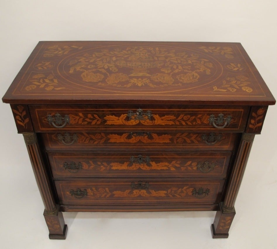 18th Century Dutch Marquetry Chest Of Drawers For Sale At 1stdibs