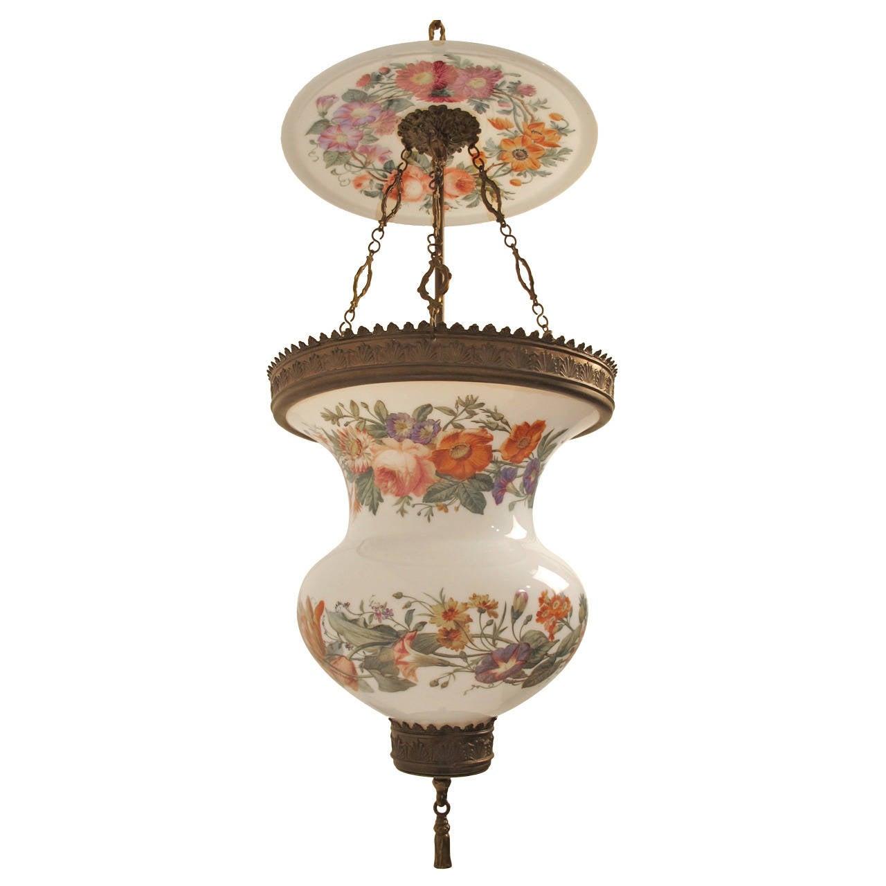 19th Century Hurricane Lamp Light Fixture At 1stdibs