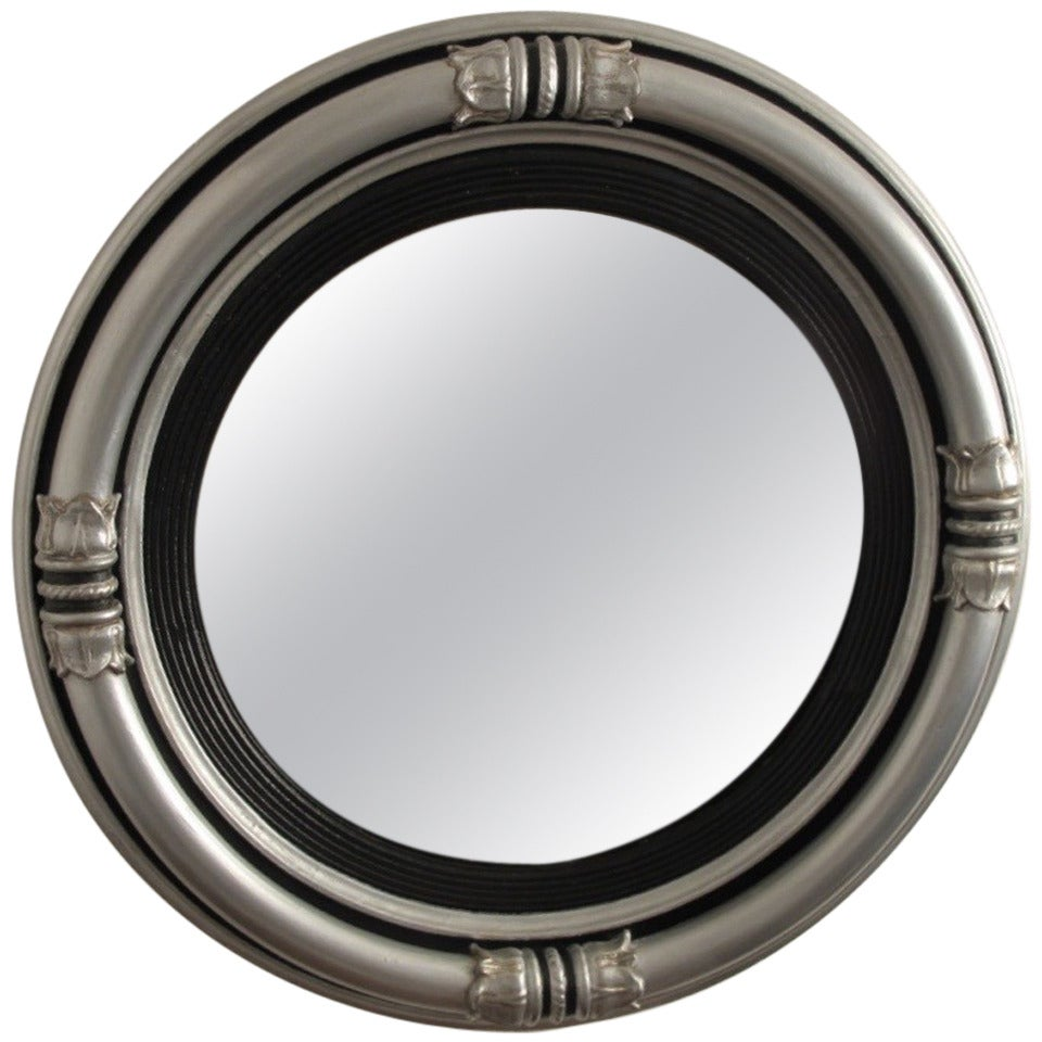 Regency style silvered convex mirror for sale at 1stdibs for Convex mirror for home