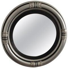 Regency Style Silvered Convex Mirror