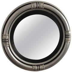 Regency Style Silvered Convex Mirror
