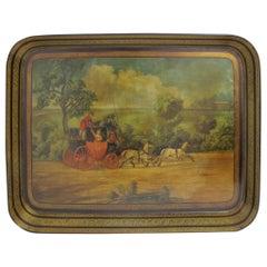 19th Century English Papier Mâché Tray
