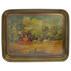 19th Century English Papier Mâché Tray