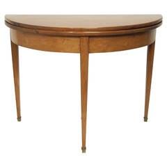19th Century Louis XVI Style Demilune Table