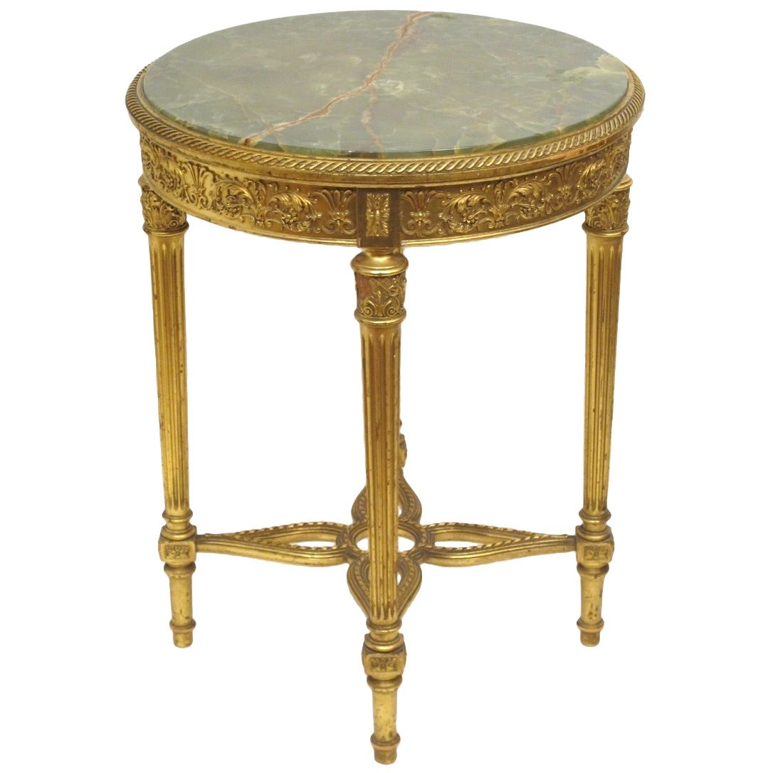 louis xvi style gilt table at 1stdibs. Black Bedroom Furniture Sets. Home Design Ideas