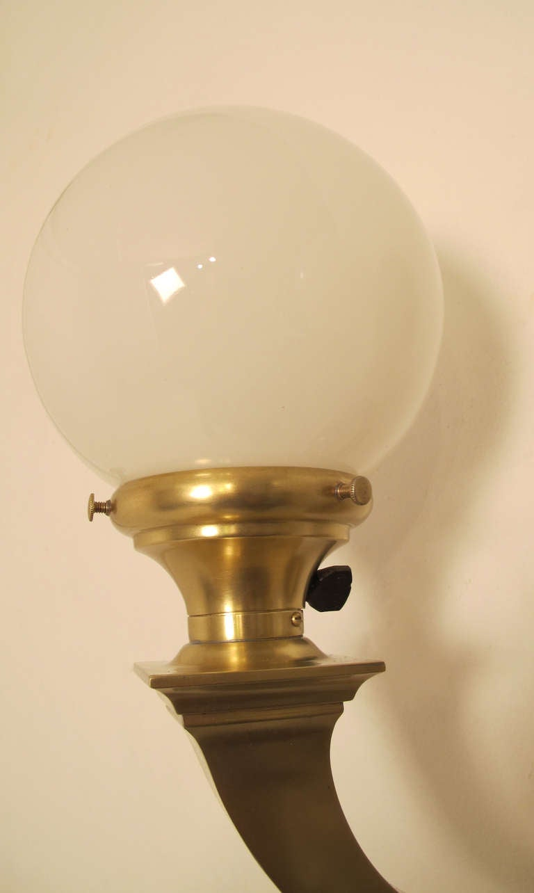 Brass Double Globe Wall Sconces For Sale at 1stdibs