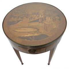 18th Century French Marquetry Bouilliotte Style Game Table