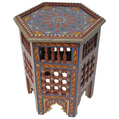 Arabesque or Moroccan Tabouret Table