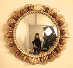 Vintage Seashell Convex Mirror