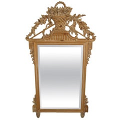 Italian White Washed Mirror