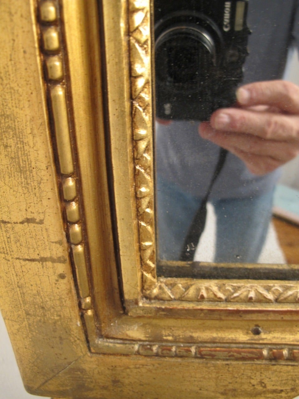 18th Century Louis XVI Gilt Framed Mirror In Excellent Condition For Sale In San Francisco, CA