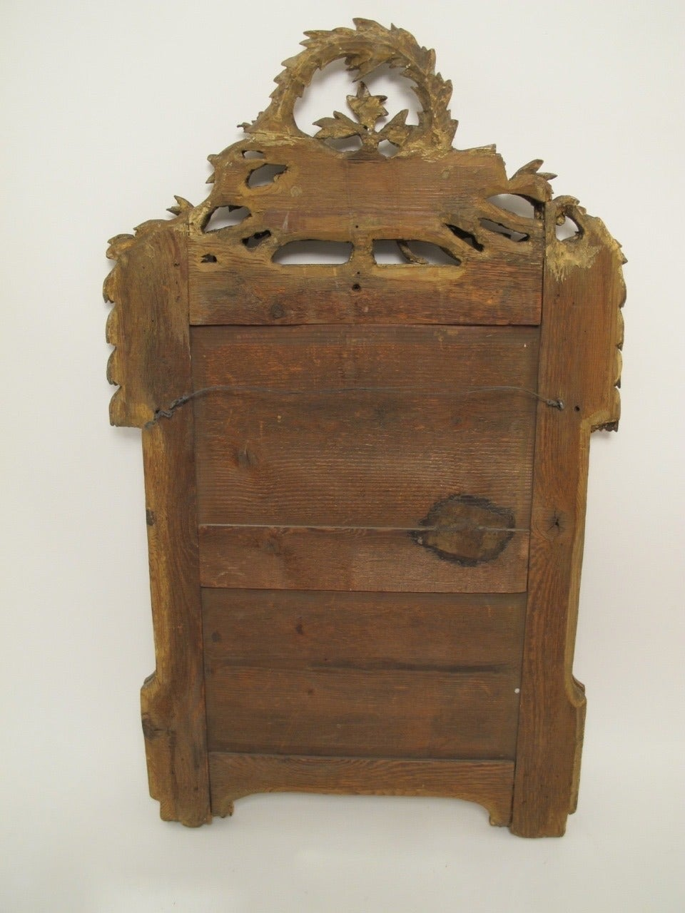 18th Century and Earlier 18th Century Louis XVI Gilt Framed Mirror For Sale