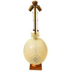 Venetian Opaline Pineapple Lamp