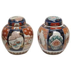 Pair of Imari Ginger Jars