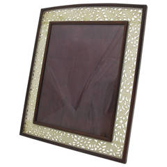 Antique Chinese Rosewood and Jade Frame