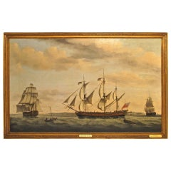 """Francis Holman """"The East Indiaman Ponsborne"""", Commanded by James Thomas"""