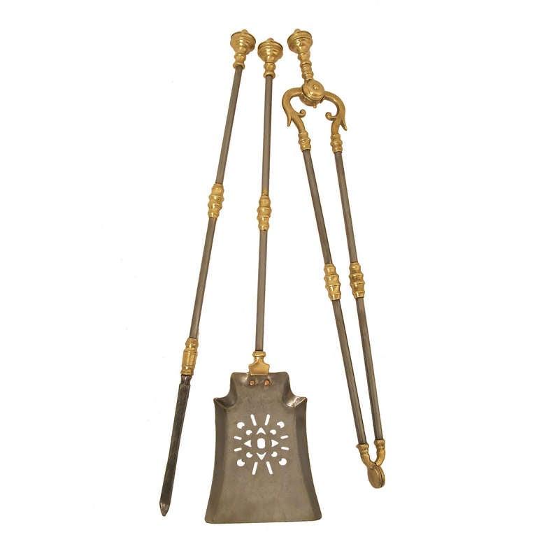 19th c. Georgian Fireplace Tools