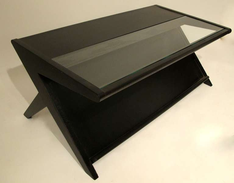 Mid century modern coffee table with magazine rack for for 13 a table magasin