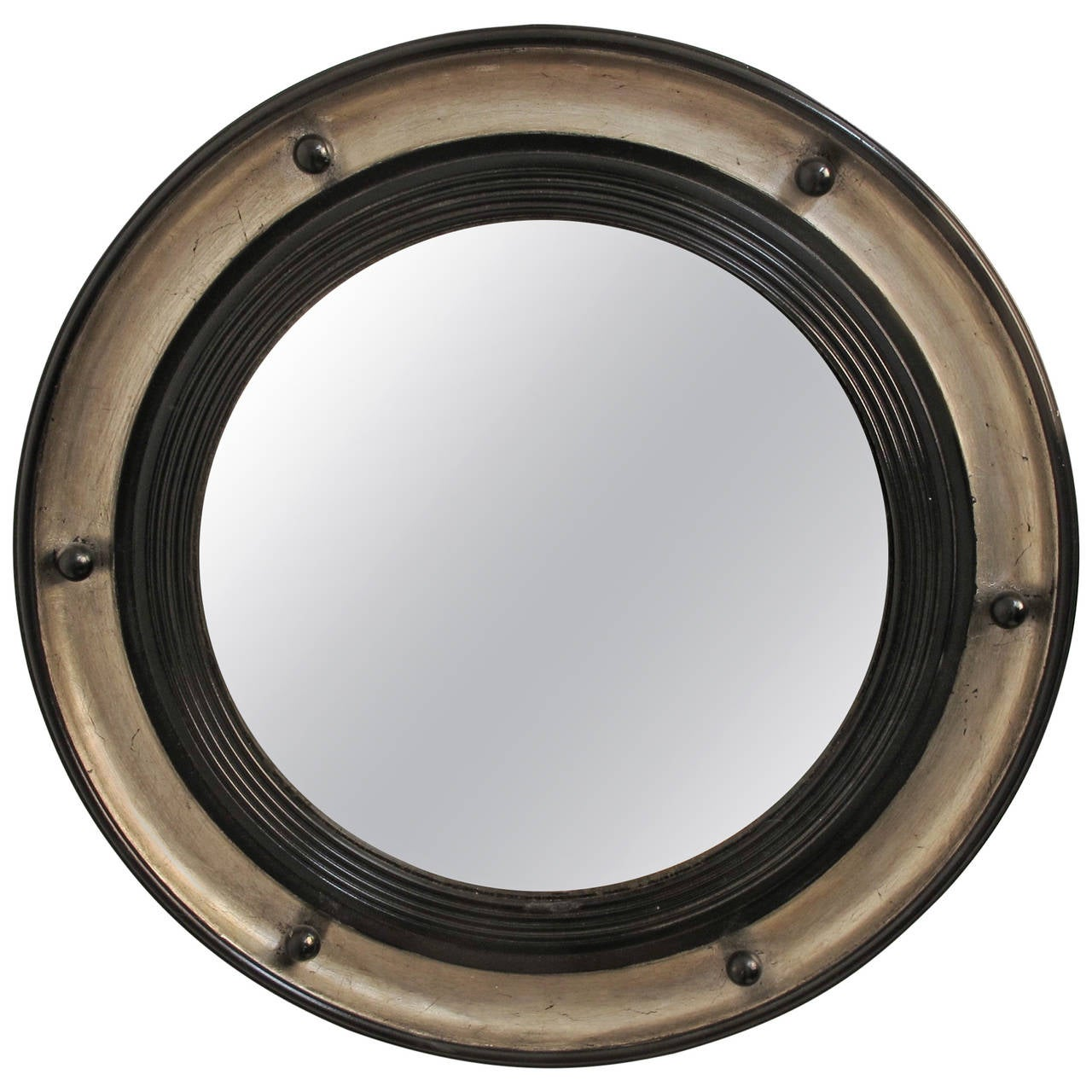 Federal style convex mirror at 1stdibs for Convex mirror