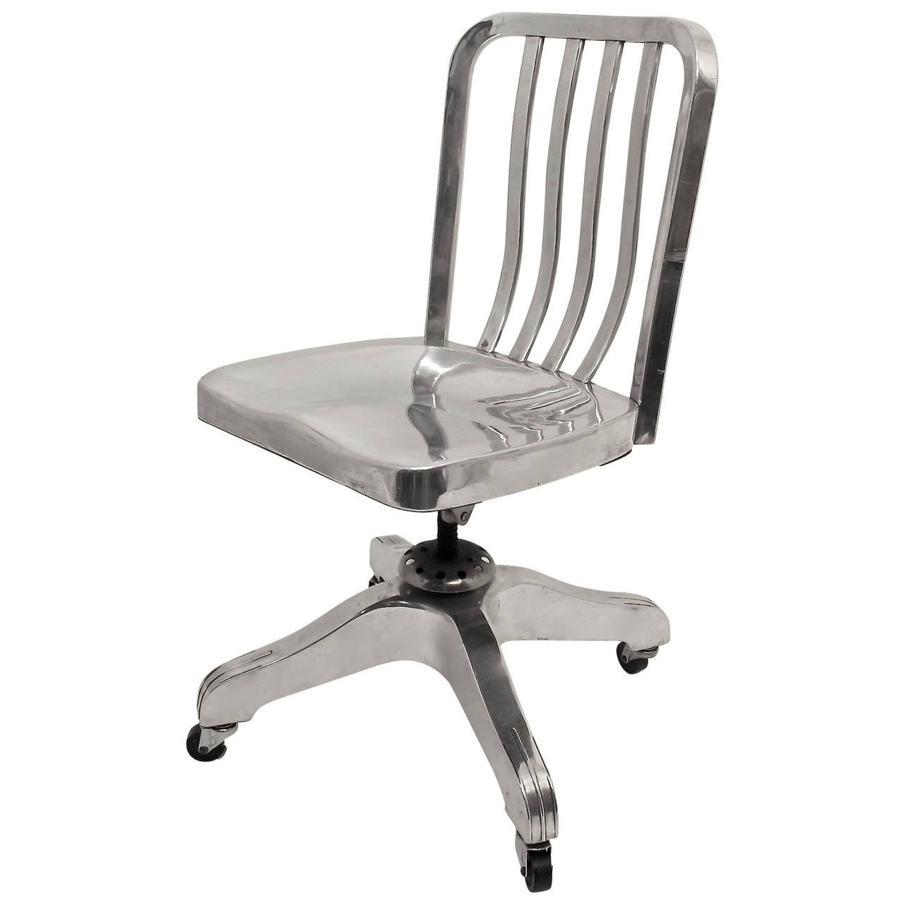 Industrial Aluminum Desk Chair at 1stdibs