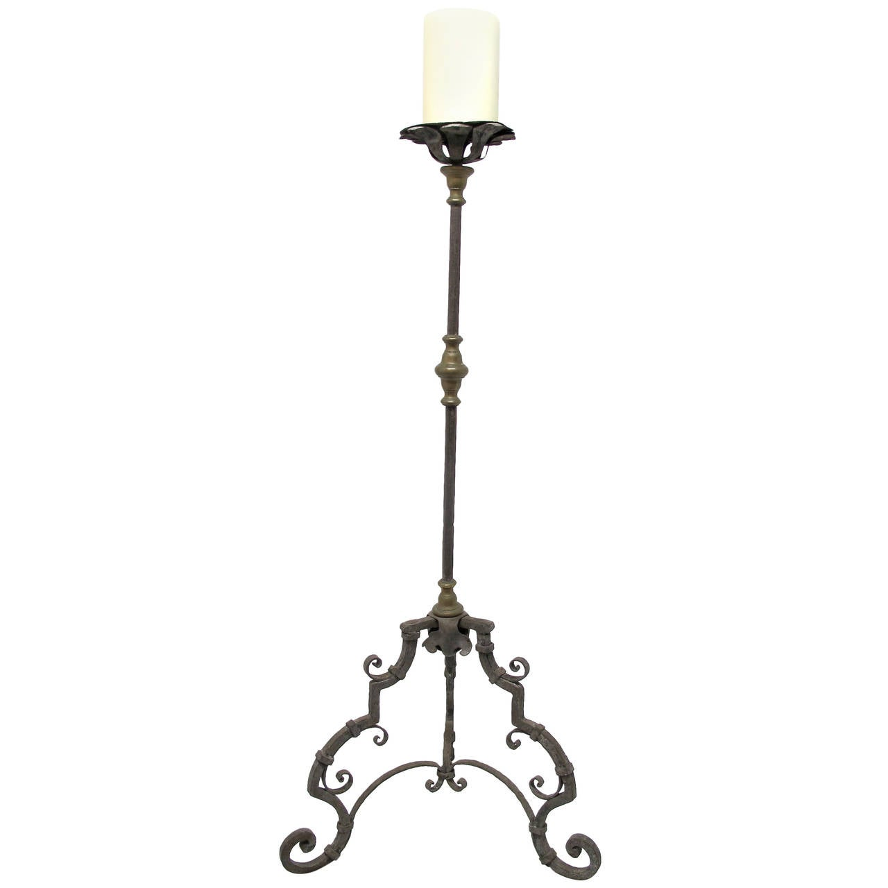 Iron Candle Stand Designs : Th century italian wrought iron candle stand for sale at