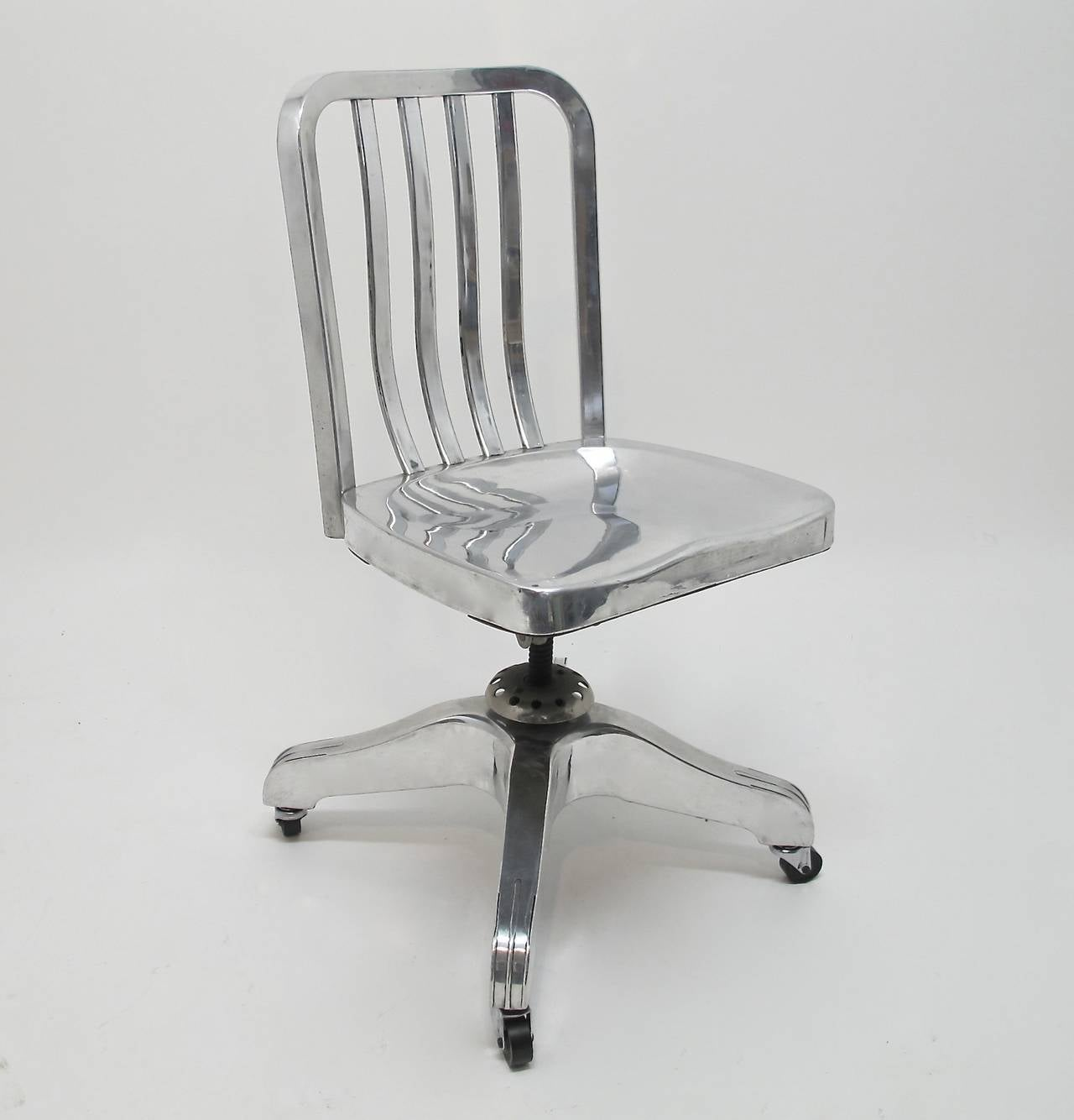Industrial Aluminum Desk Chair At 1stdibs