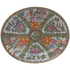 19th Century Chinese Famille Rose Medallion Platter