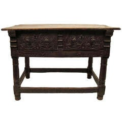 17th Century Spanish Library or Center Table
