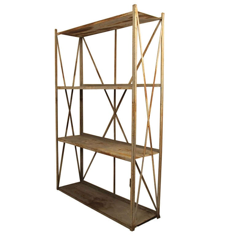 Industrial Shelving Unit At 1stdibs
