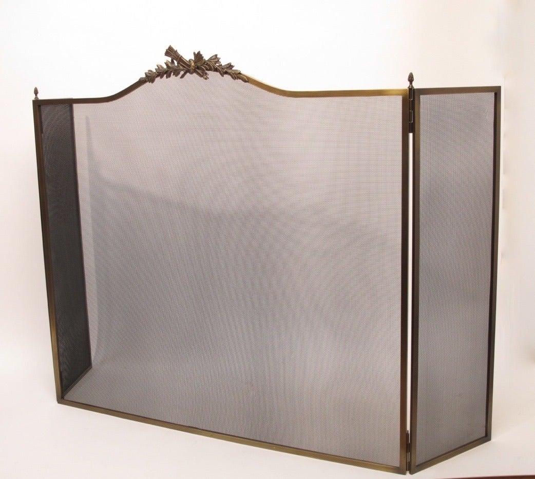 large wm h jackson bronze fireplace screen at 1stdibs