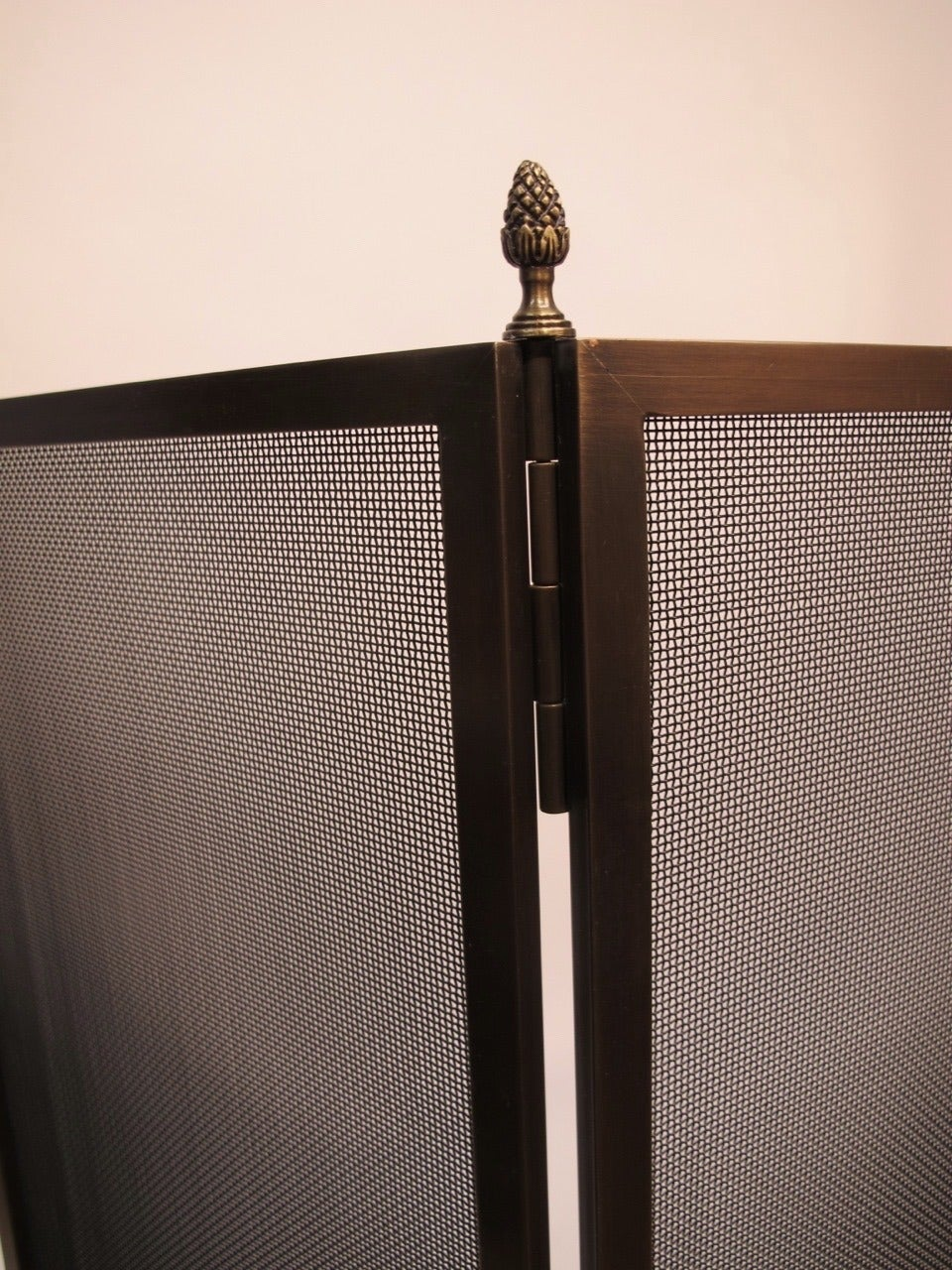 this large wm h jackson bronze fireplace screen is no longer